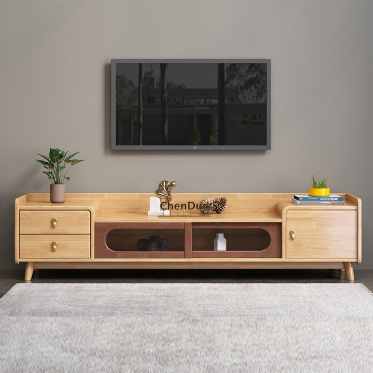 歐式實木電視櫃