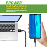 (0.3M/1FT) 2 PACK PPOWER Micro USB CABLES