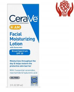 CeraVe AM 面部保濕乳液 SPF 30,89 毫升(3 盎司)