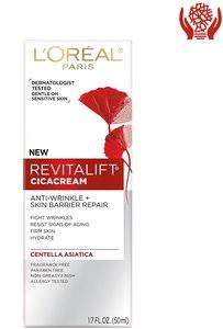 L'Oreal Paris Revitalift Cicacream Centella 抗衰老面部保濕霜 50 毫升(1.7 盎司) 50 ml x 1