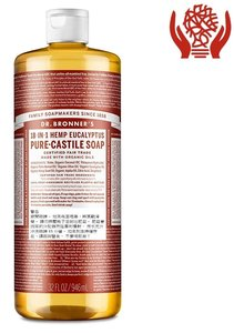 Dr Bronner's Eucalyptus Pure-Castile 皂液,946 毫升(32 盎司) 946 毫升 x 1