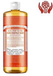 Dr Bronner's 茶樹純卡斯蒂利亞皂液,946 毫升(32 盎司) 946 毫升 x 1