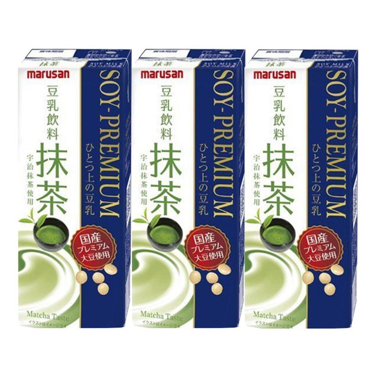 Marusan抹茶味高級豆乳200ml x 3