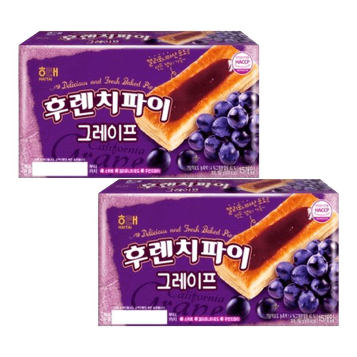Haitai French pie (grape) 192g x 2