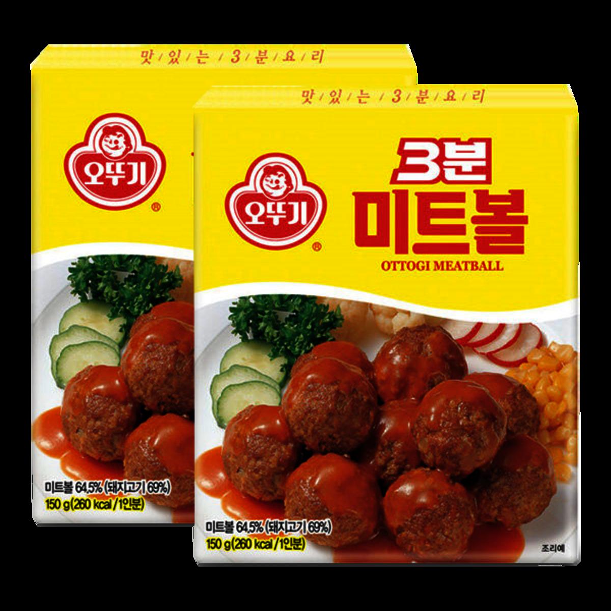 Ottogi 3 minutes Meat Ball 150gX2