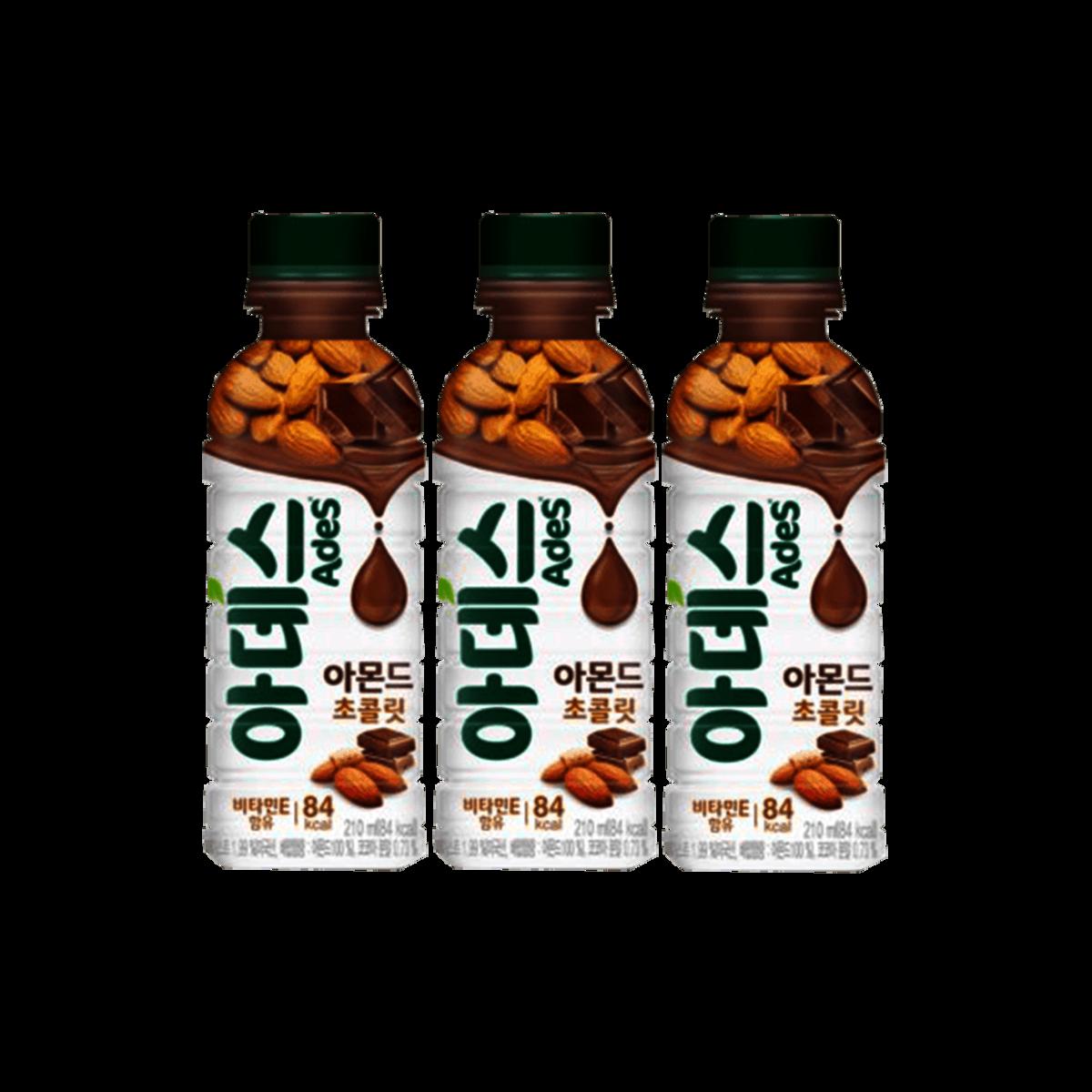 Ades almond chocolate milk drink 210ml x 3