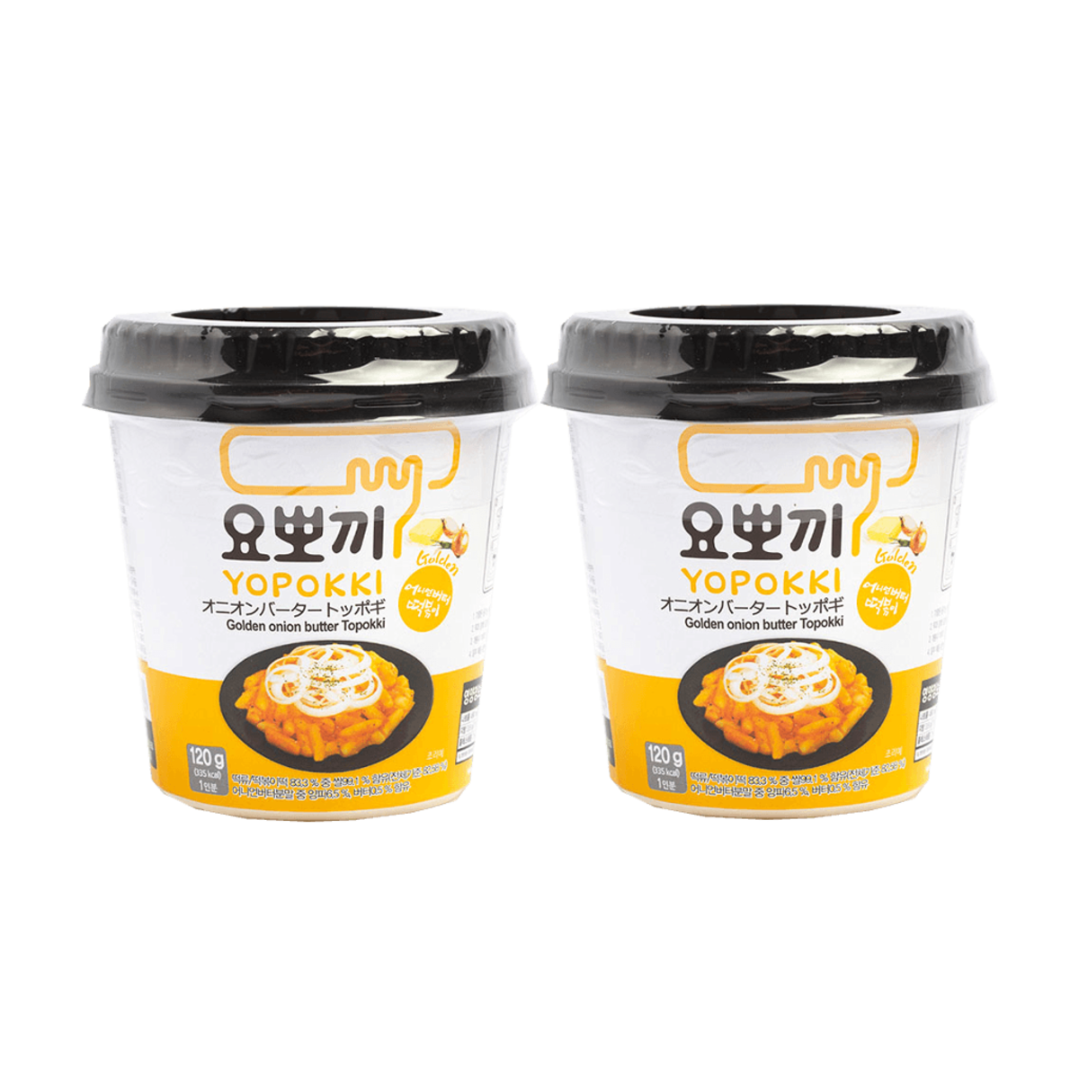 Korea Yopokki Onion Butter Flavored Rice Cake 120g x 2