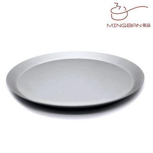 明品 10寸 圓形Pizza烤盤 披薩烤盤 撻模 批盤 烘焙 (陽極) 10寸 / 陽極