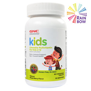 GNC Milestones®兒童多種維生素咀嚼片 (2-12歳) 60粒咀嚼片 (平行進口) ( 79601) 60 粒咀嚼片