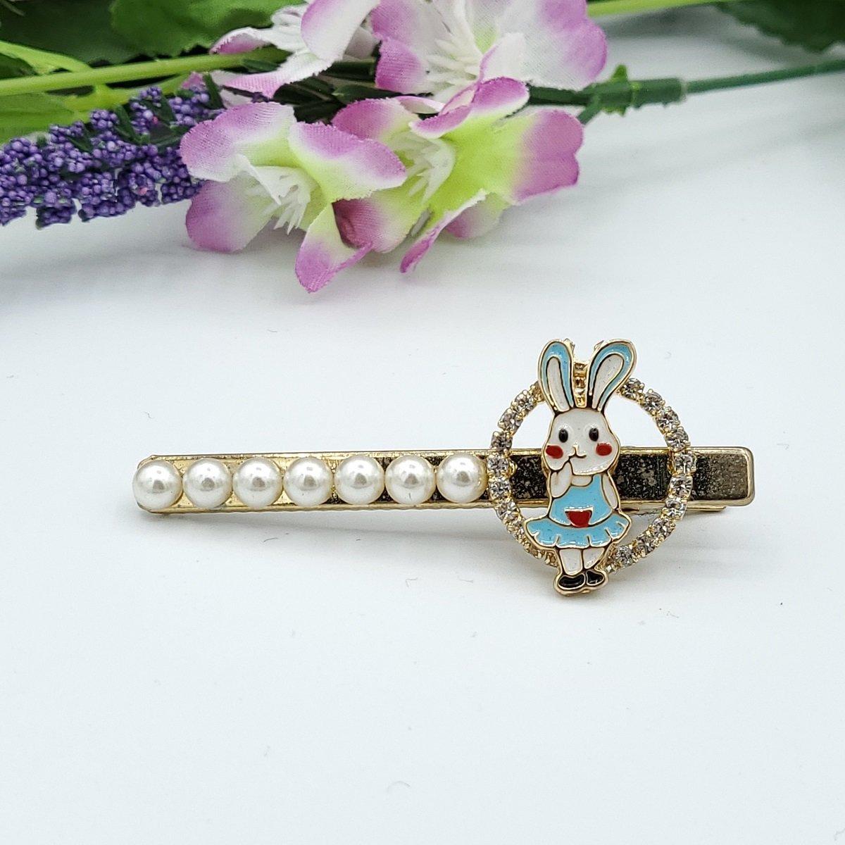 Korea Design Little Rabbit Pearl Hair Clip