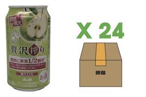 朝日 Asahi 朝日 期間限定 啤梨果汁 啤酒 24罐x 350ml (保質期: 2021/8月)