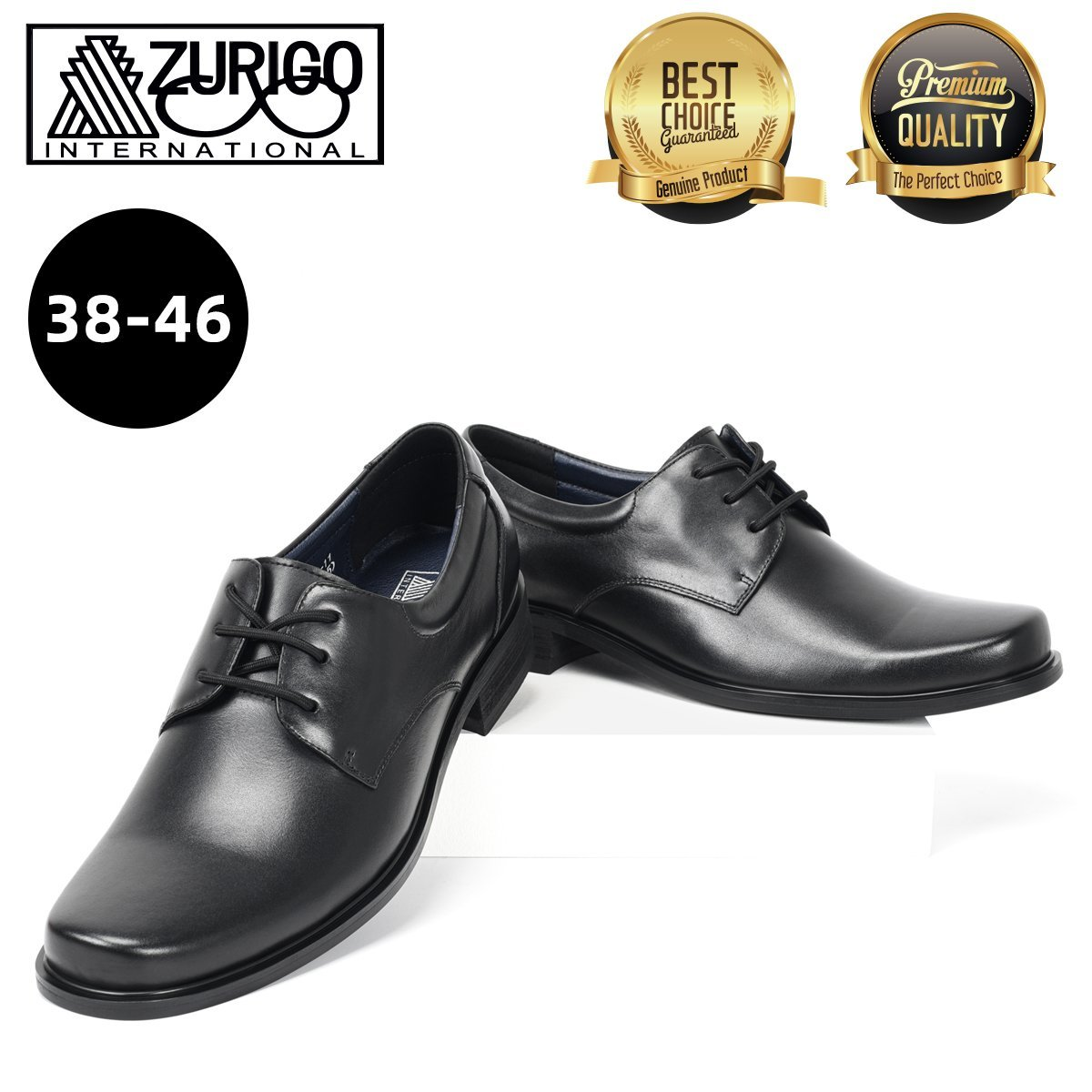 Men's Hand Made Genuine Leather Comfort Formal Shoes 90101-11 38 Black Wedding Shoes, Leather Shoes
