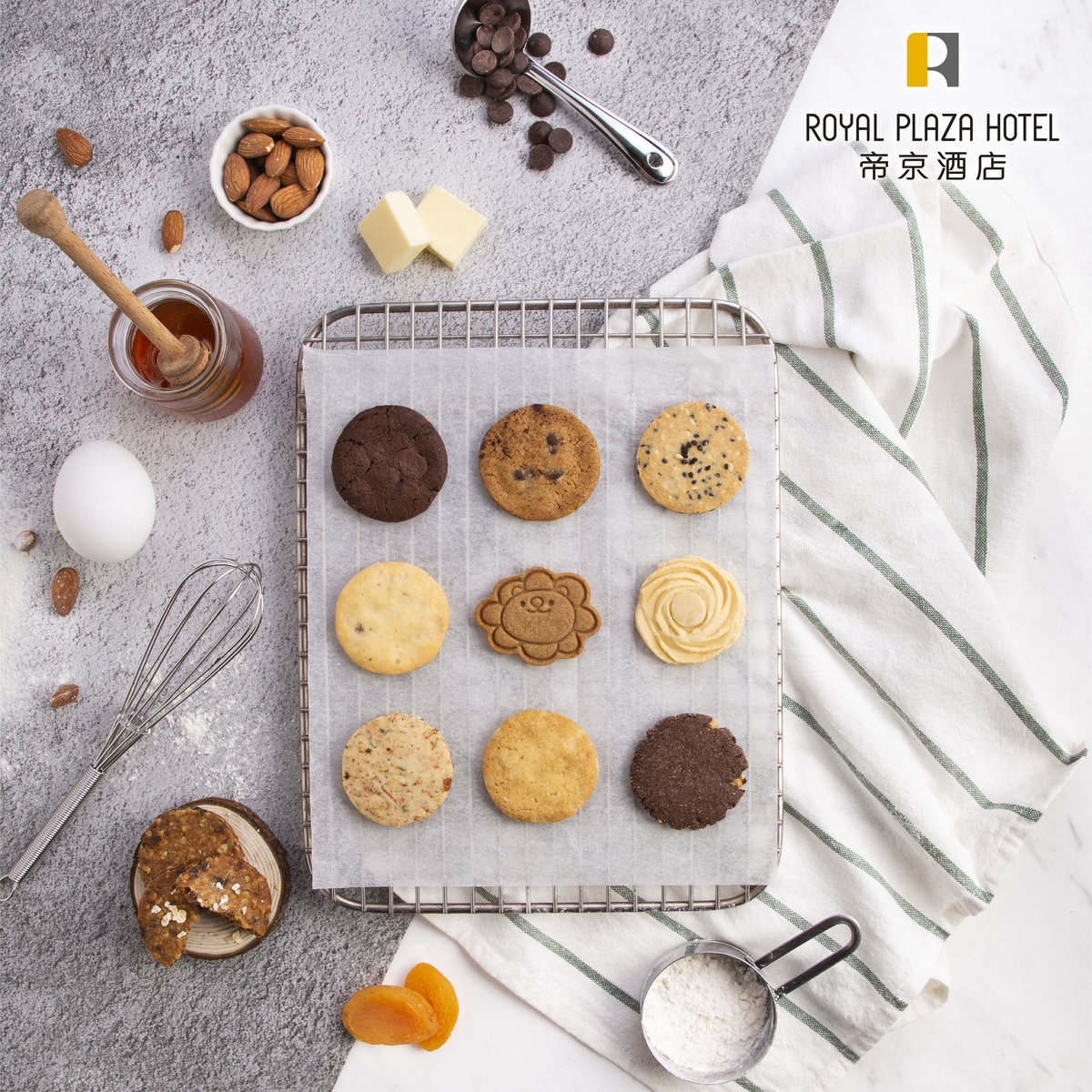 1 Unit - Oatmeal, Apricot & Raisin Cookies (10 pcs)【Self Pick-up Only】