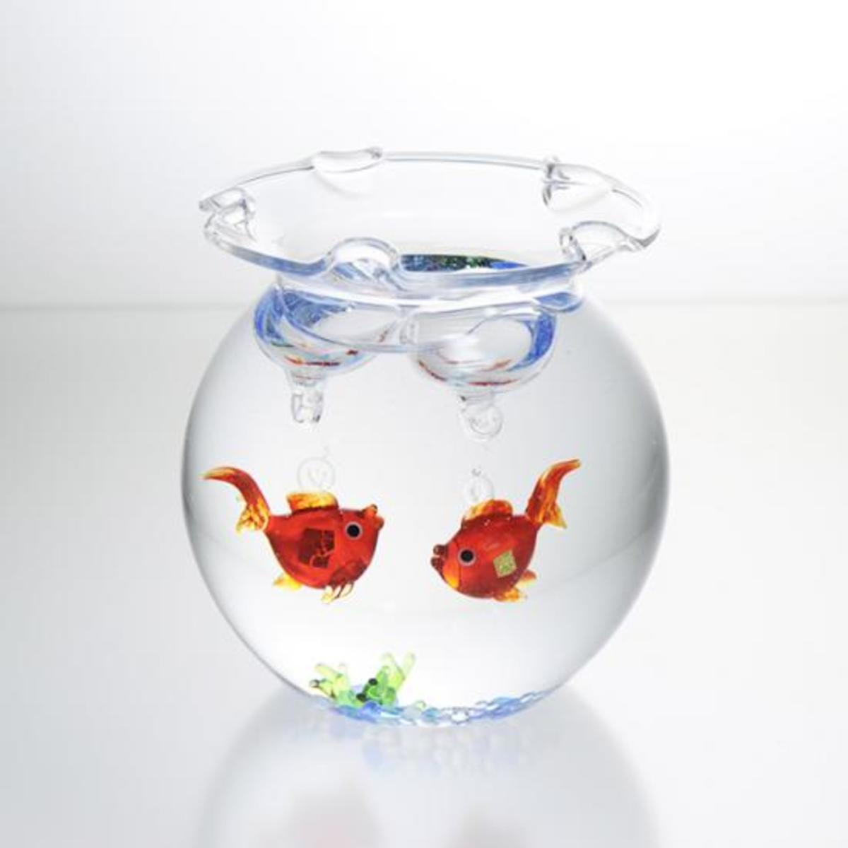 Gold leaf Glass Figure – Mini Goldfish Bowl