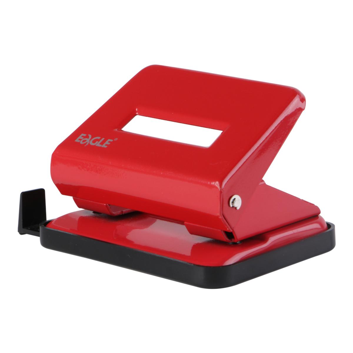 708 雙孔打孔機連尺 (紅色)