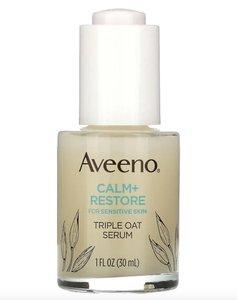 Aveeno 淨膚 + 修復三重作用燕麥精華霜,適用於敏感肌,1 液量盎司(30 毫升) 皮膚科醫生推薦
