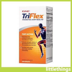 GNC (240粒) TriFlex速效型3活關節配方 (葡萄糖胺+軟骨素+MSM) 240粒裝 [平行進口] 240 caplets