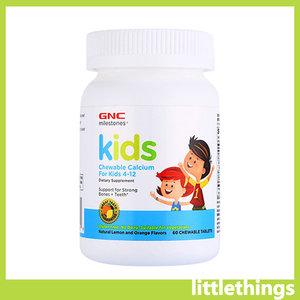 GNC 兒童鈣咀嚼片60片 (兒童4-12歲) (EXP 11/2022) [平行進口] 60 tablets