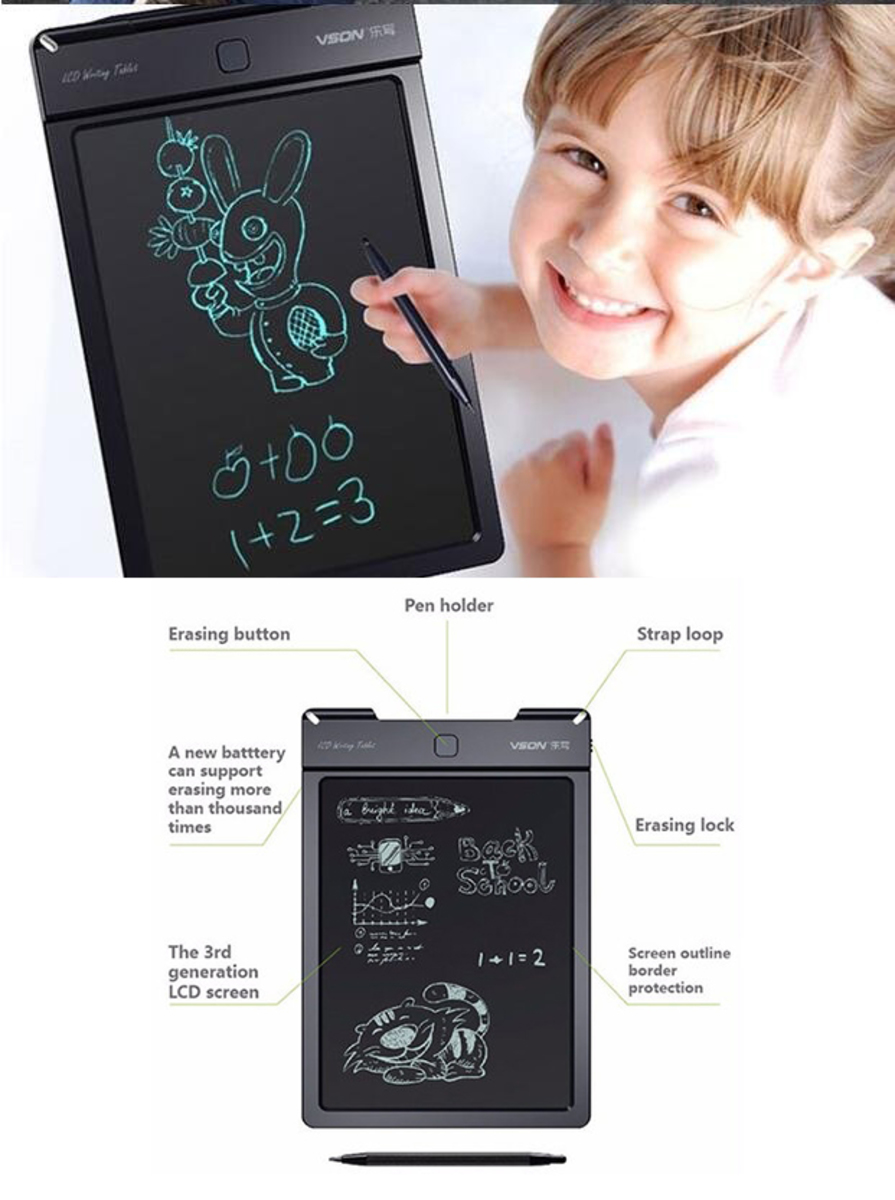 VSON LCD Writing Tablet (3 Sizes Available)