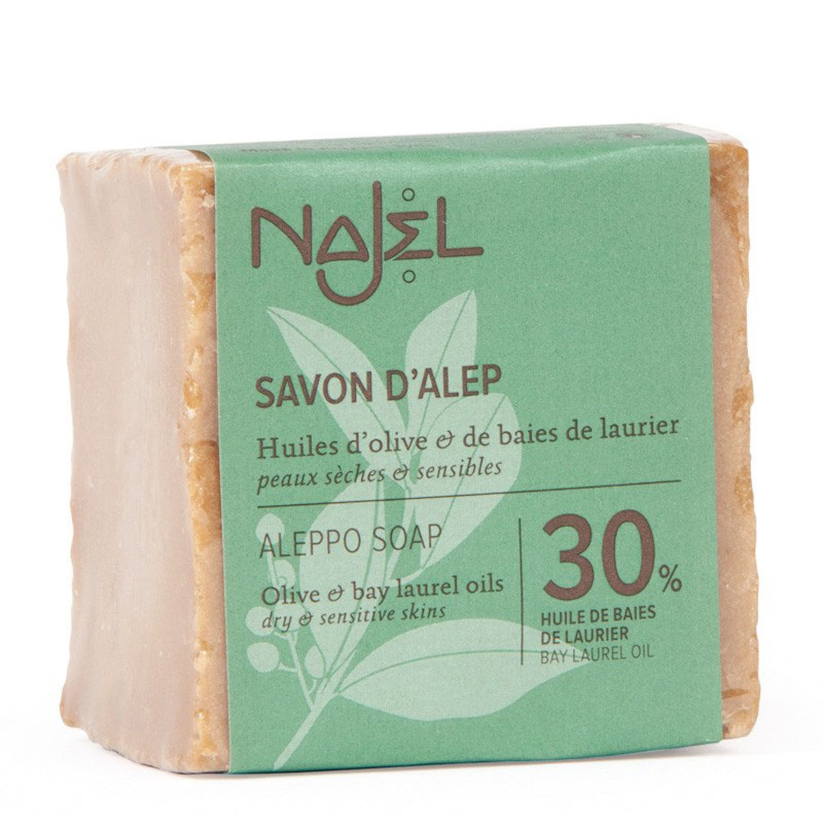Najel Aleppo Soap 30% Bay Laurel Oil (Free a mesh bag)