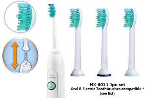 SMAT 4 件裝 Philips 電動牙刷代用刷頭 (HX6014) 4 個