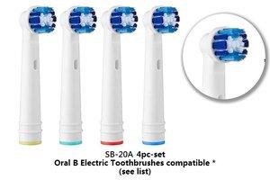 SMAT 4 件裝 Oral B / Braun 電動牙刷代用刷頭 (SB-20A) 4 個