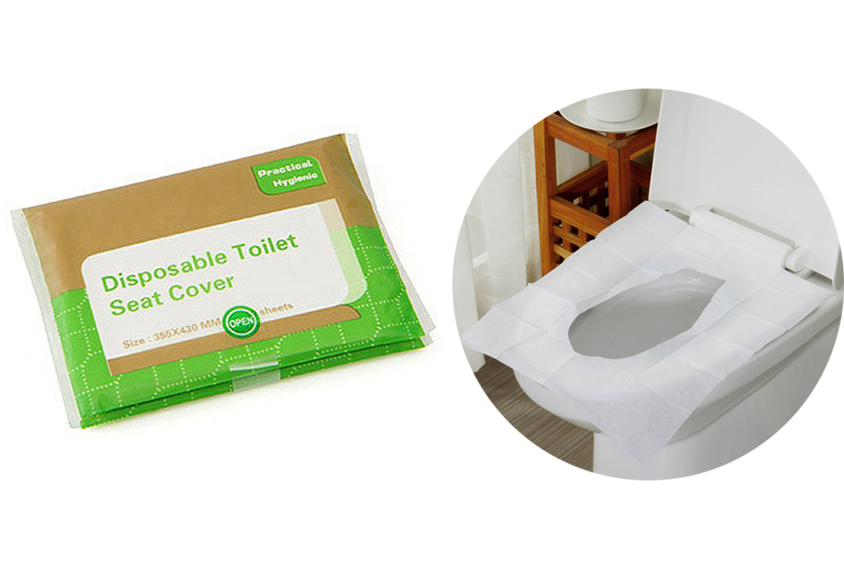 5 Packs Disposable Toilet Seat Cover (Total 50 pcs)
