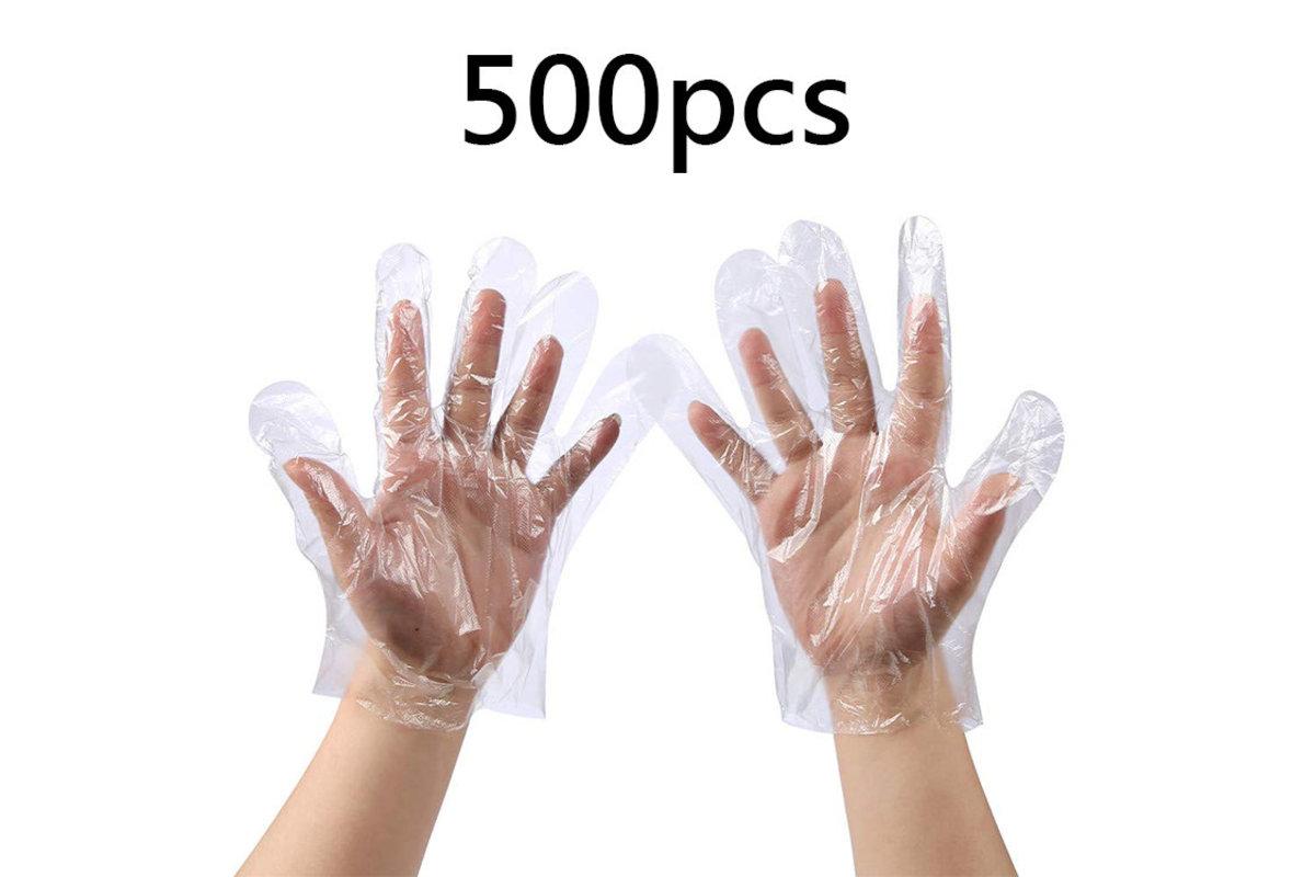 500 pcs Disposable Transparent Gloves (Economic Class) Advanced version