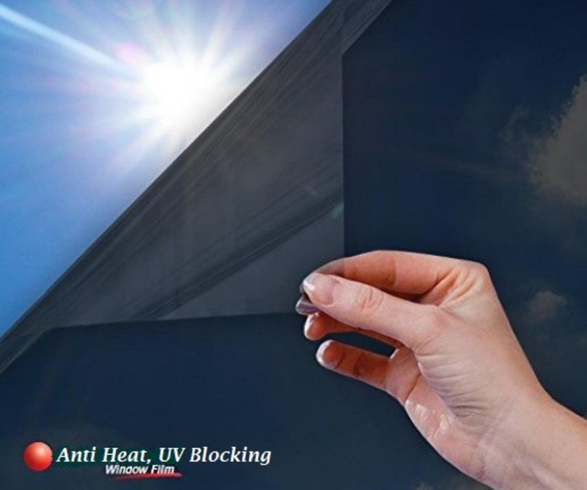 防紫外線抗UV隔熱玻璃貼50x 200cm