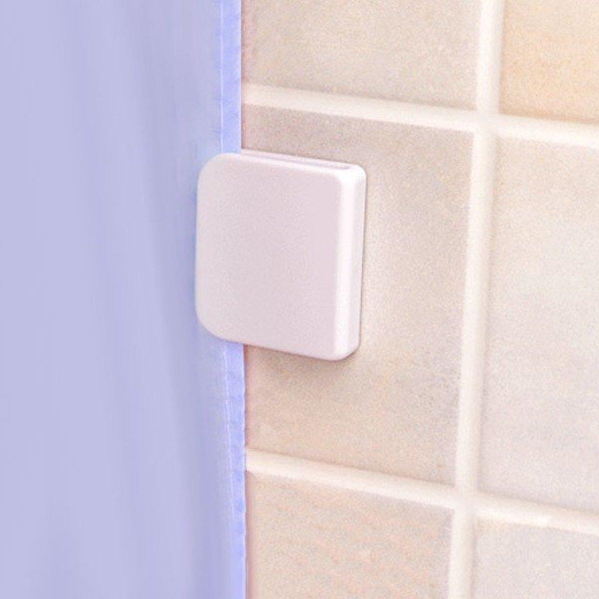 2 pcs Adhesive ShowerCurtain/Window Curtain Securing Clip