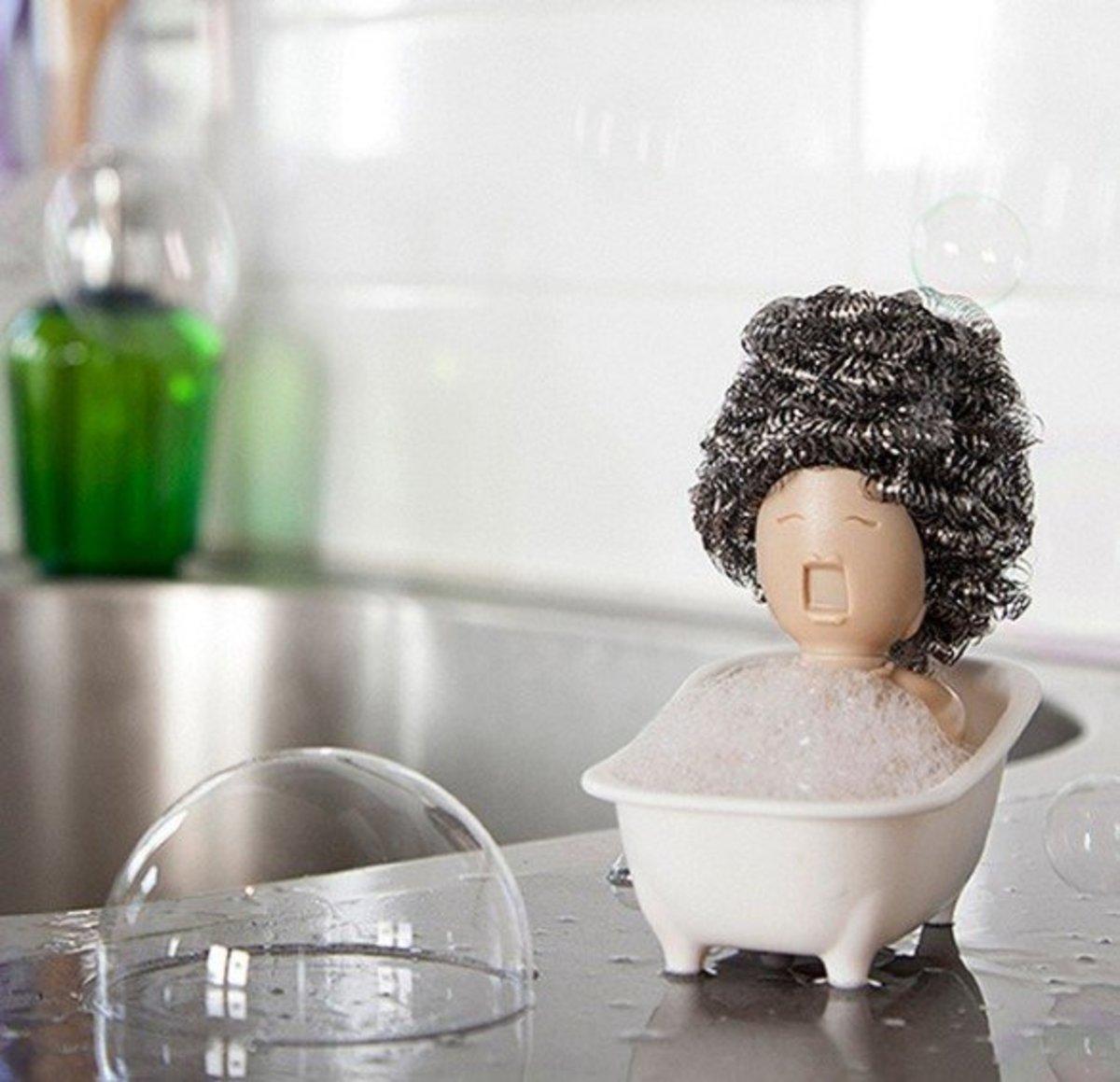 浴缸造型清潔球置物架