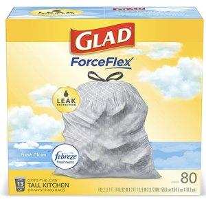 佳能 美國進口 Glad ForceFlex Tall Kitchen Drawstring Trash Bags – 13 Gallon Trash Bag 平行進口 80ct O