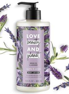 iPro LBP Love Beauty and Planet 身體乳液 摩洛哥堅果油和薰衣草13.5盎司/ 400毫升-平行進口 400ml