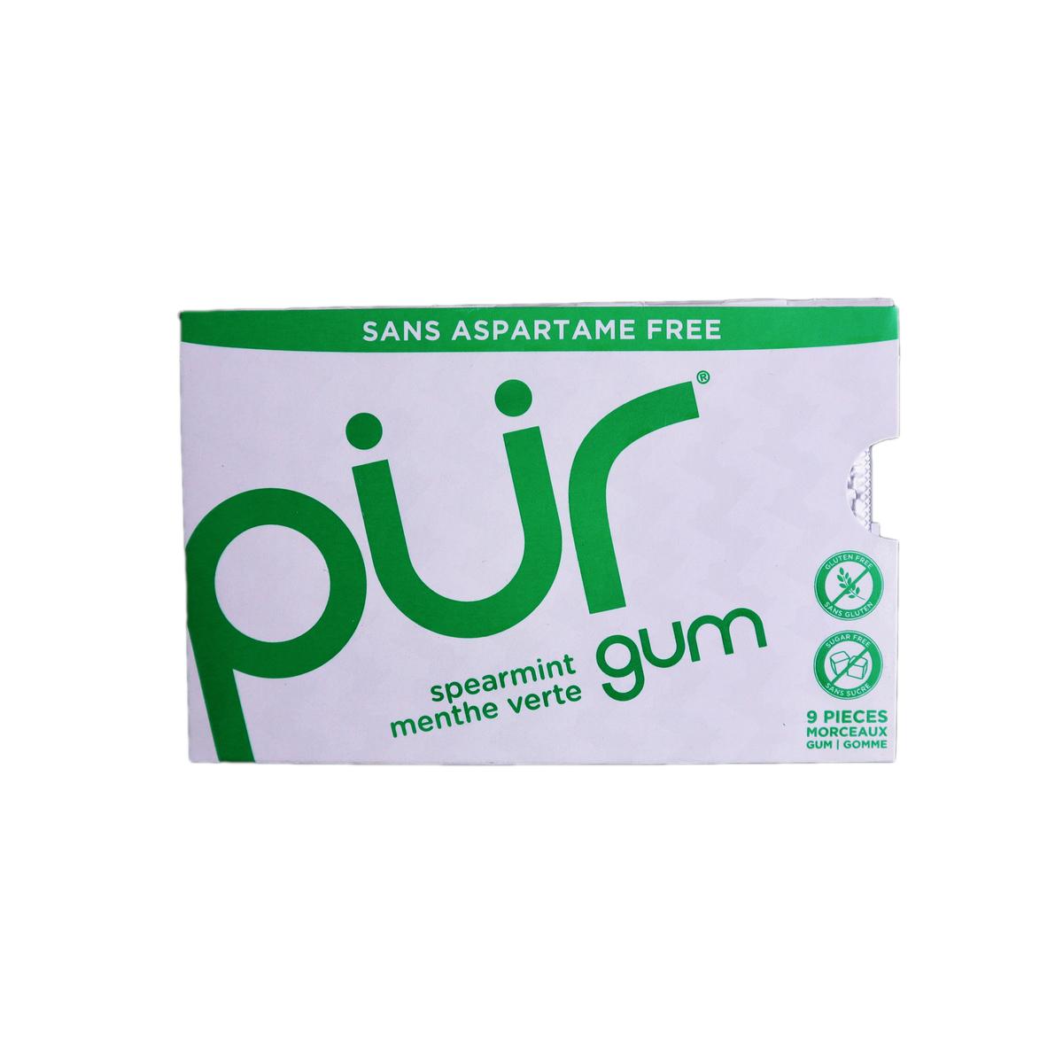 Vegan Spearmint Gum, 9pcs x 6 Packs