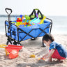 Folding portable outdoor hand push rod moving goods camping shopping cart AB027