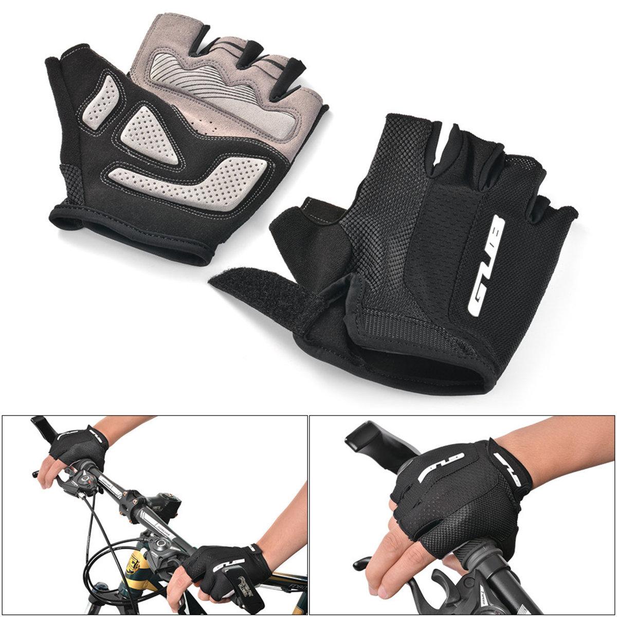單車防滑半指手套 黑色 L码