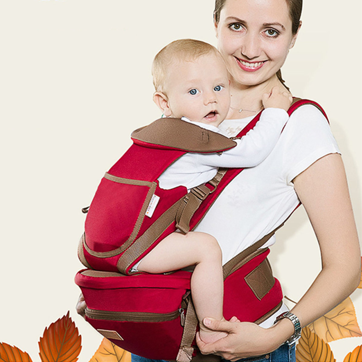 Baby Carrier Ergonomic Hip Seat Convertible Infant Backpack from Newborn to Toddler HK735