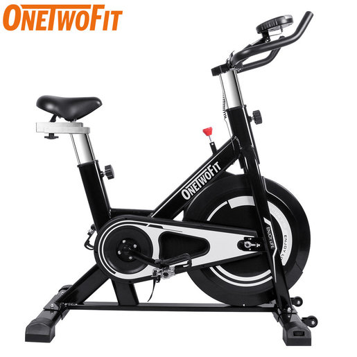 Onetwofit 8kg Large Flywheel Spinning Bike Adjustable Resistance Ultra Quiet Indoor Fitness Bike Home Color Black And Red Hktvmall Online Shopping