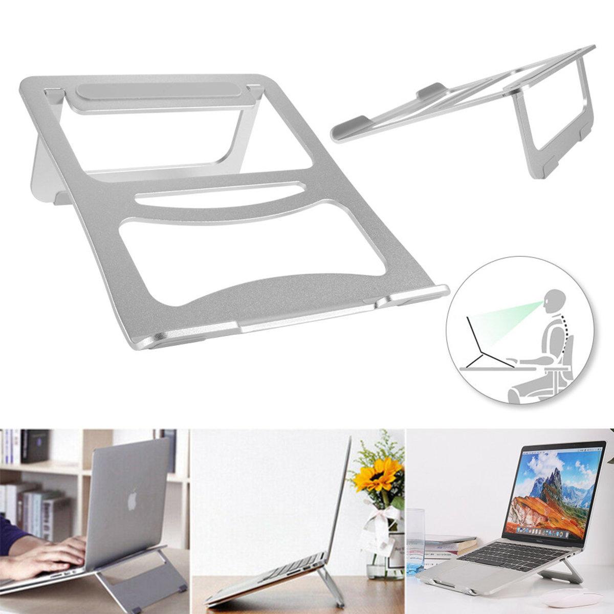 銀色 簡易折疊電腦支架