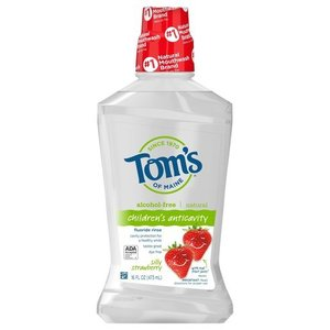 Tom's of Maine 兒童無酒精 含氟漱口水 (草莓味)16 FL OZ〡473ml 美國製造平行進口