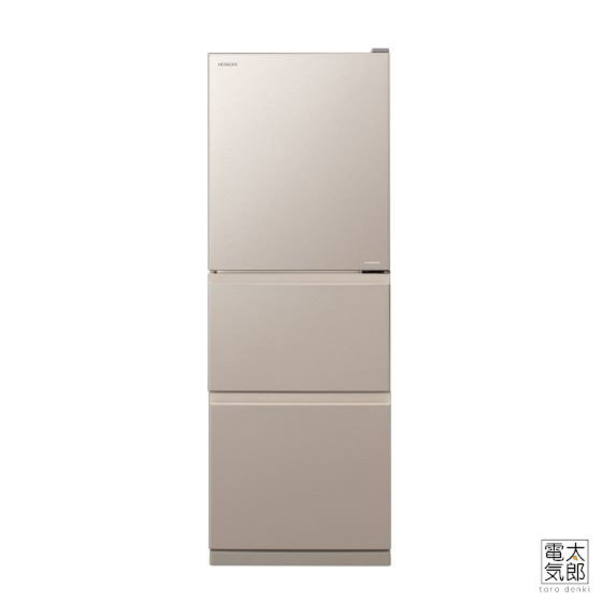 Hitachi - 3-Door Refrigerator Champagne Silver R-S28KPH