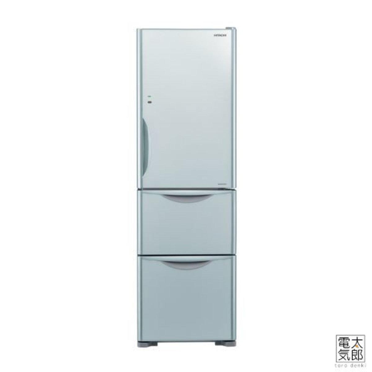 Hitachi - 3-Door Refrigerator Inverter Compressor Glass Silver RSG32KPH