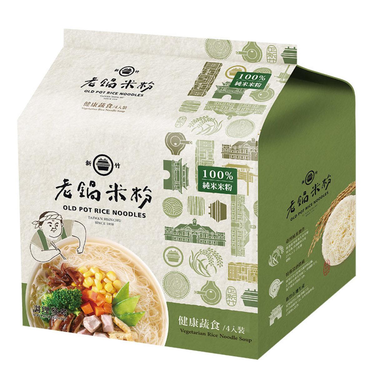 老鍋米粉 純米健康蔬食風味湯米粉(純素)(4包裝)