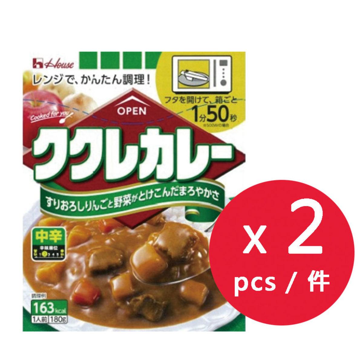 House 咖哩屋Kucre甜咖哩 (中辛) 180g x 2盒 (平行進口)