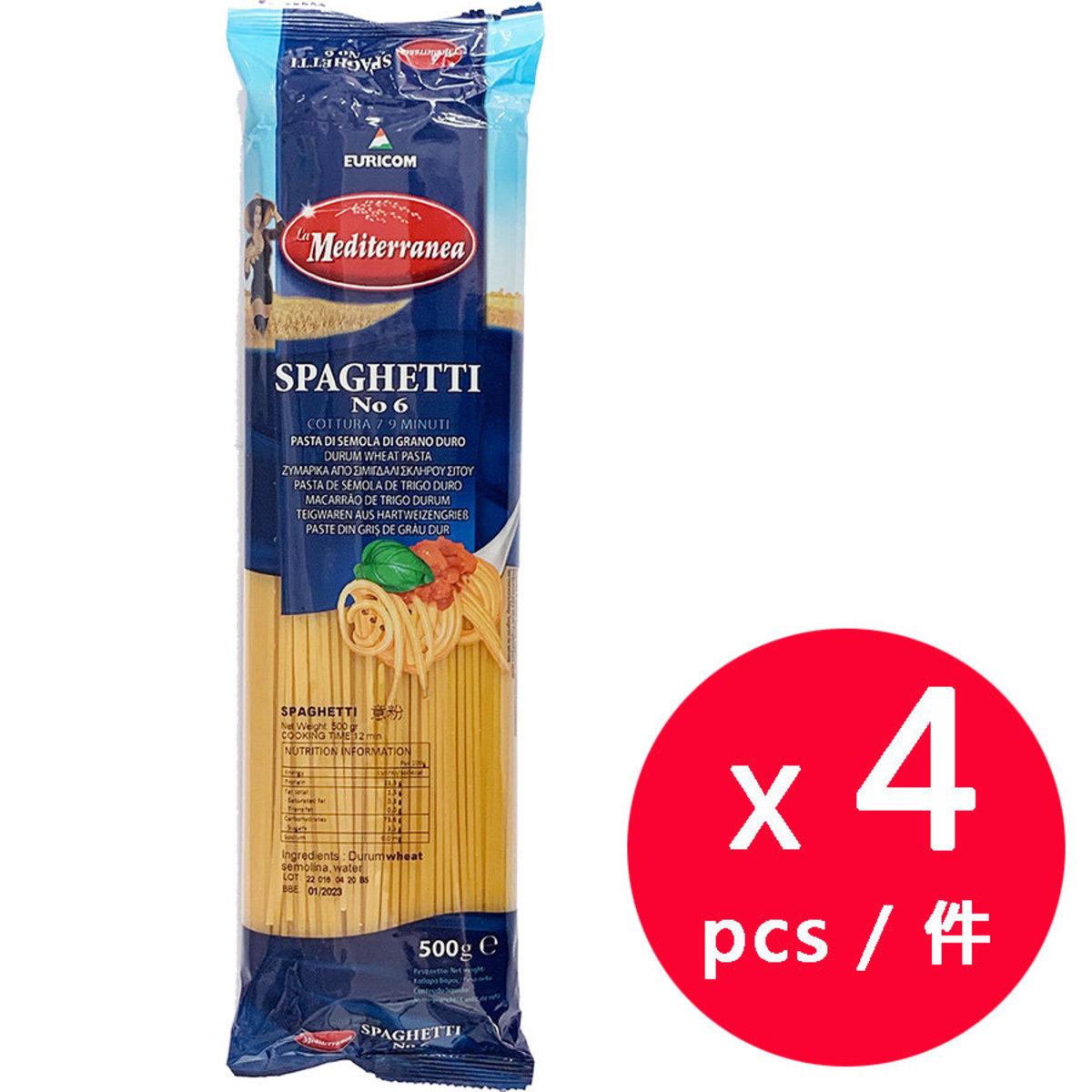 La Mediterranea No.6 Spaghetti 500g x 4 Packs