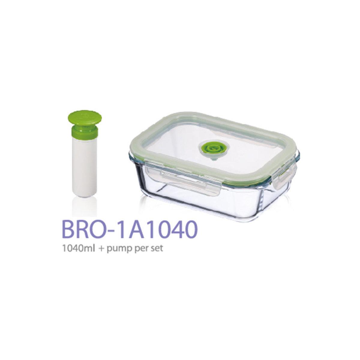 Vacuumsaver - Boro Series Vacuum Glass Container (1L + pump)