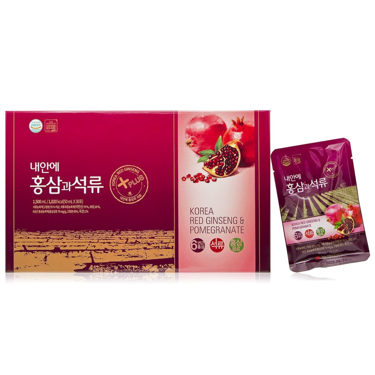Korean Red Ginseng and Pomegranate Drink Gift Set (30pcs)
