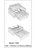 Fabric  2-seater Storage sofa bed J001(Grey)