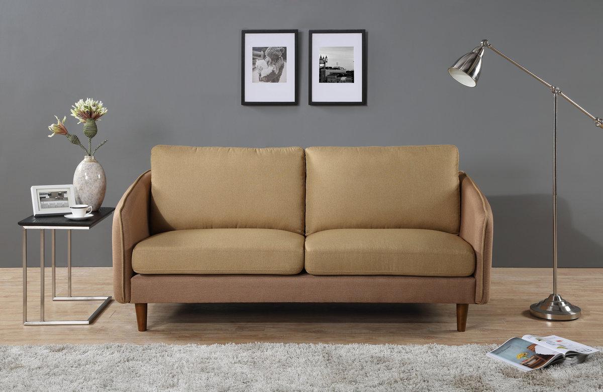 Japanese-style Simple fabric sofa J005(Brown)