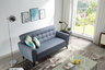Japanese-style modern fabric sofa J014(Blue)